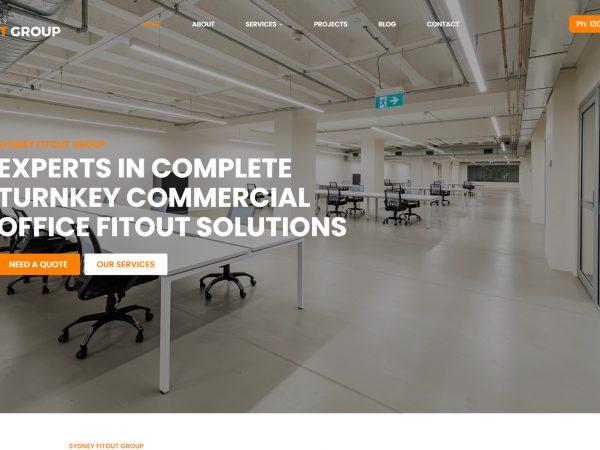 Sydney Fitout Group Website Design
