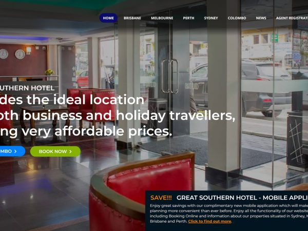 Great Southern Hotel Website Design