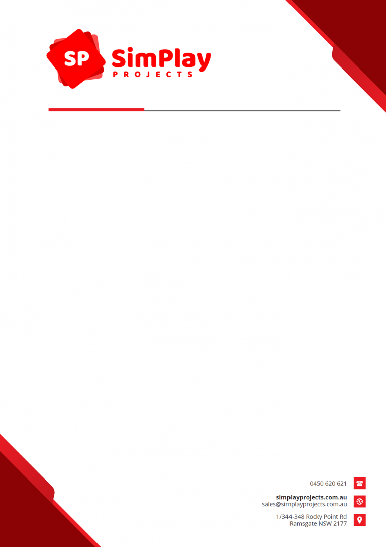 Simplay Projects Letterhead